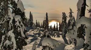 Snowshoe fun atop Grouse Mountain